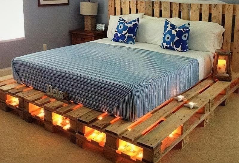 Бюджетне ліжко — ліжко з піддонів своїми руками: ідеї і майстер-клас 16