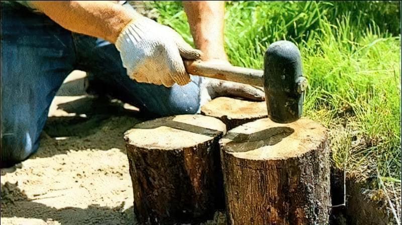 Доріжка із зрубів дерева своїми руками 3