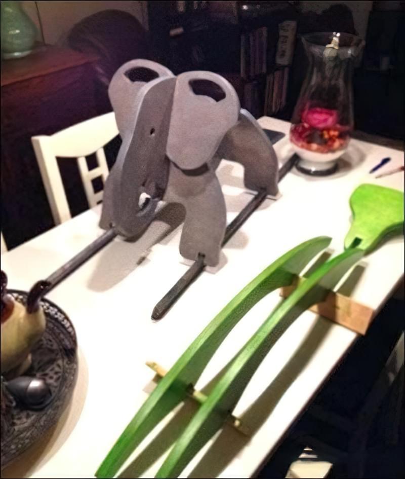 """Гойдалка для дітей """"Слон"""" з фанери 4"""