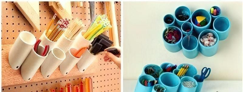 Практичні вироби з пластикових труб 1