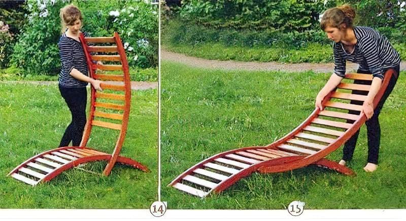 Як зробити крісло-шезлонг своїми руками з дерева 4