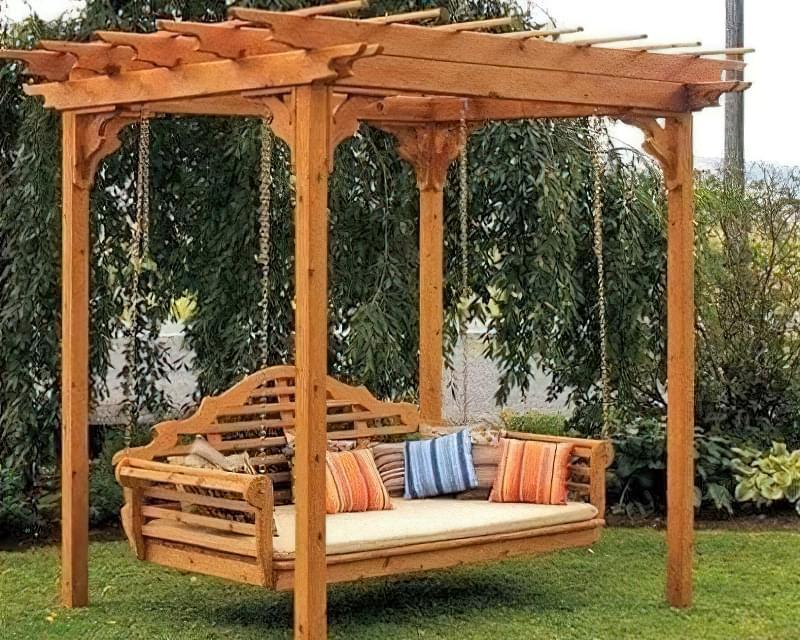 Як зробити садові качелі з дерева: ідеї для натхнення і інструкції по виготовленню 16