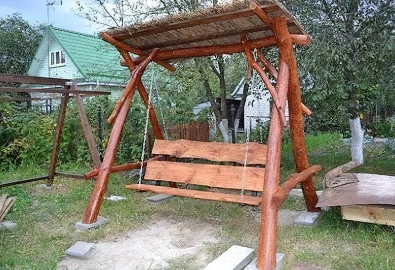 Як зробити садові качелі з дерева: ідеї для натхнення і інструкції по виготовленню 17