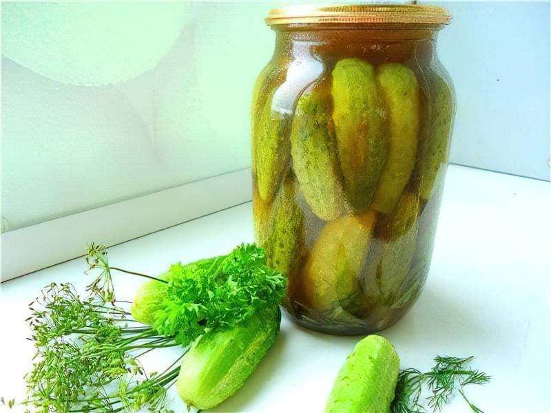 Мариновані огірки з кетчупом 5