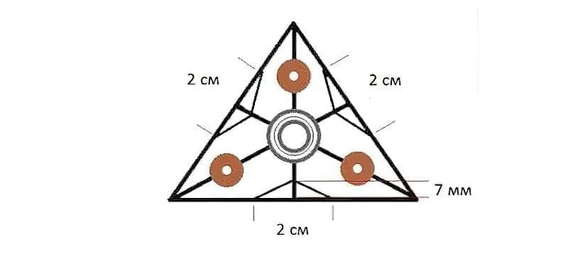 Як зробити спінер своїми руками (2 види конструкцій) 11
