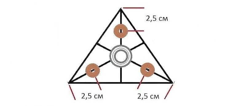 Як зробити спінер своїми руками (2 види конструкцій) 7
