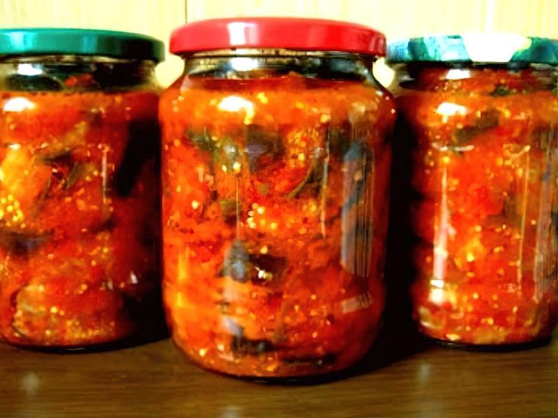 Закуска з баклажанів з помідорами 6