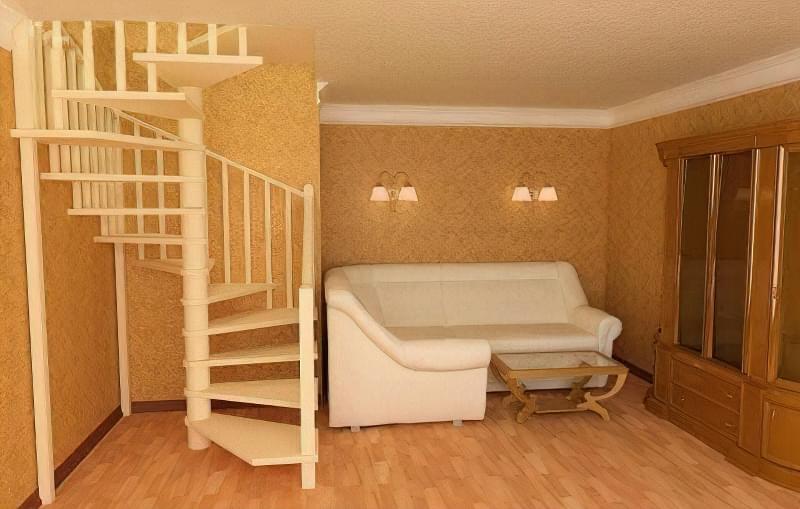 Гвинтові сходи на другий поверх 9