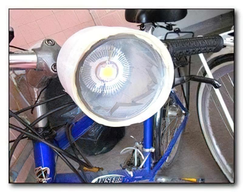 Велофара своїми руками на світлодіодах 1
