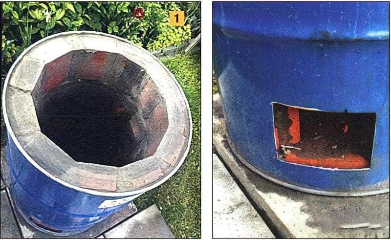 Как из бочки сделать печь для сжигания  112