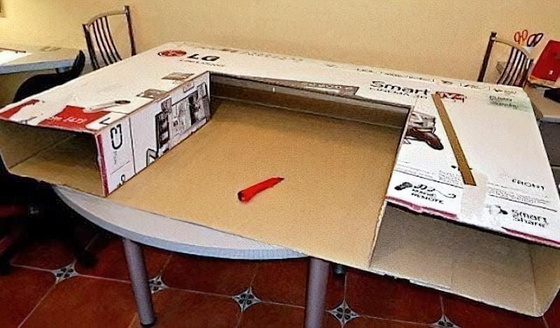 Камін з коробок своїми руками: 15 ідей і 3 майстер-класи з інструкціями 1