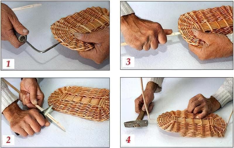 Плетіння кошиків з лози для початківців, покроково 1