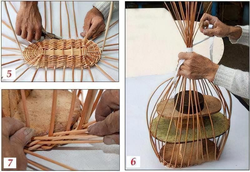 Плетіння кошиків з лози для початківців, покроково 2