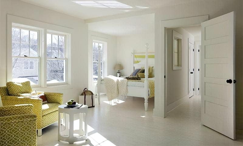 Білий колір в інтер'єрі різних приміщень 1