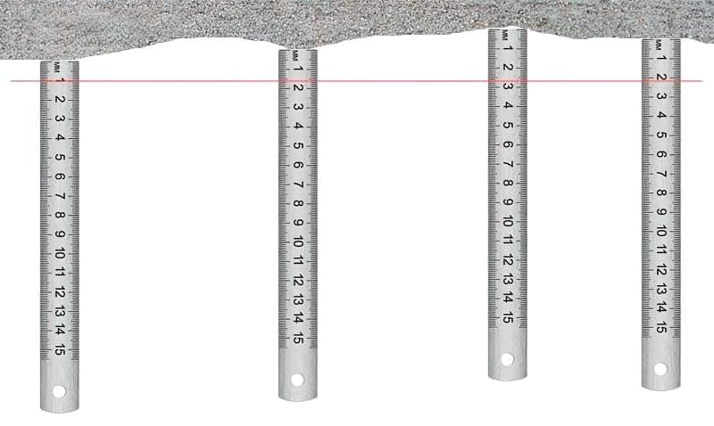 Середня товщина шару штукатурки