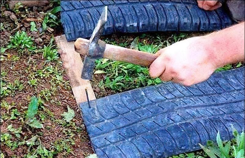 Садові доріжки своїми руками з шин 3