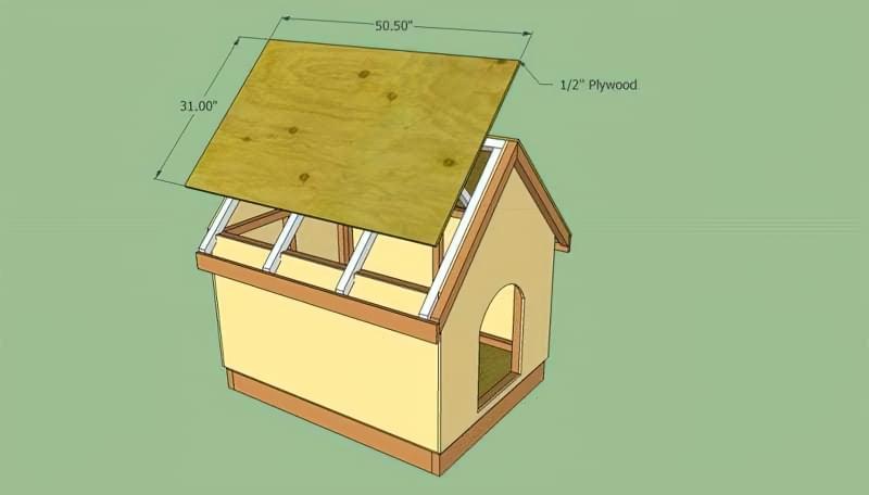 Як зробити собачу будку своїми руками 10