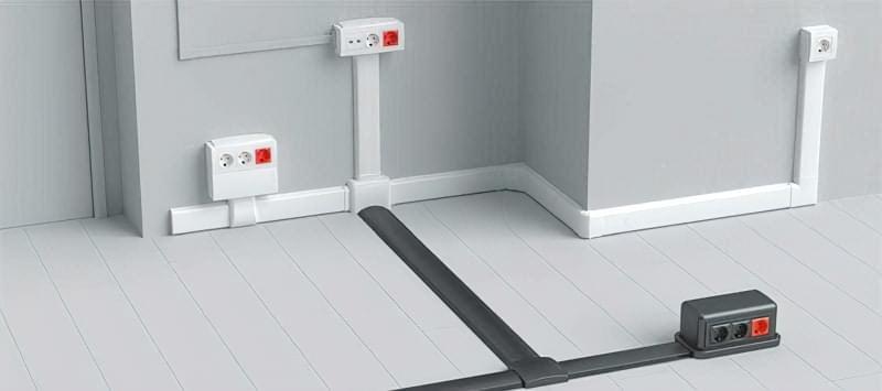 Змонтовані підлогові канали кабель