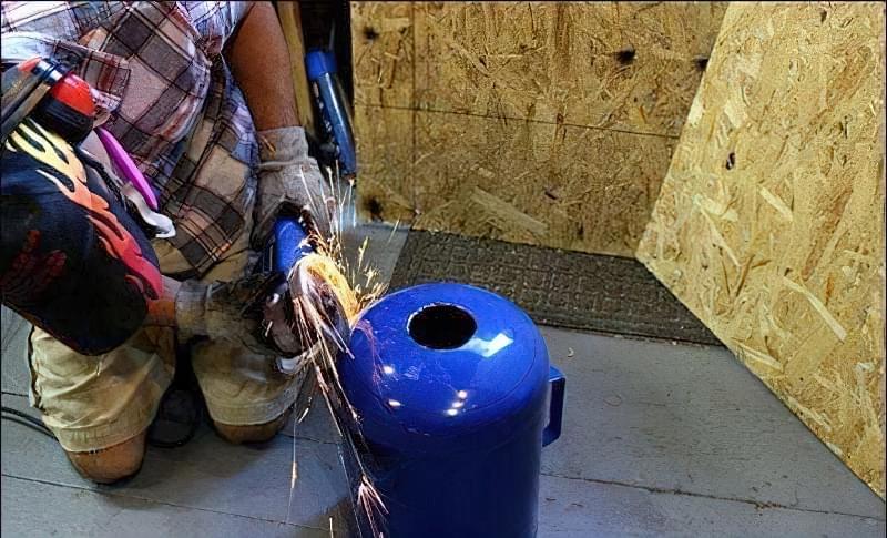 Ковальський горн своїми руками з газового балона 2