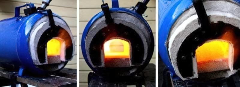 Ковальський горн своїми руками з газового балона 18