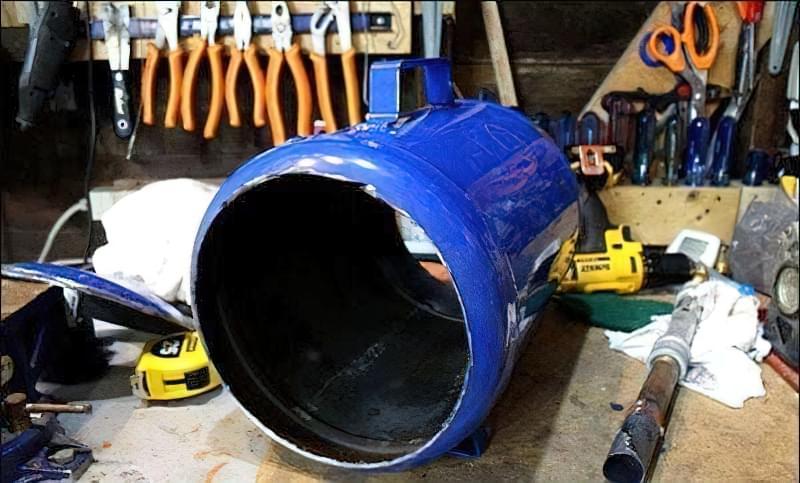 Ковальський горн своїми руками з газового балона 3