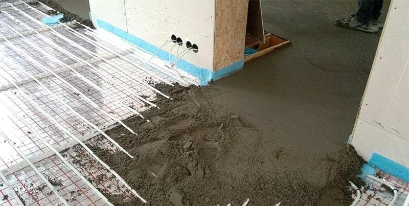 Напівсуха стяжка під тепла підлога