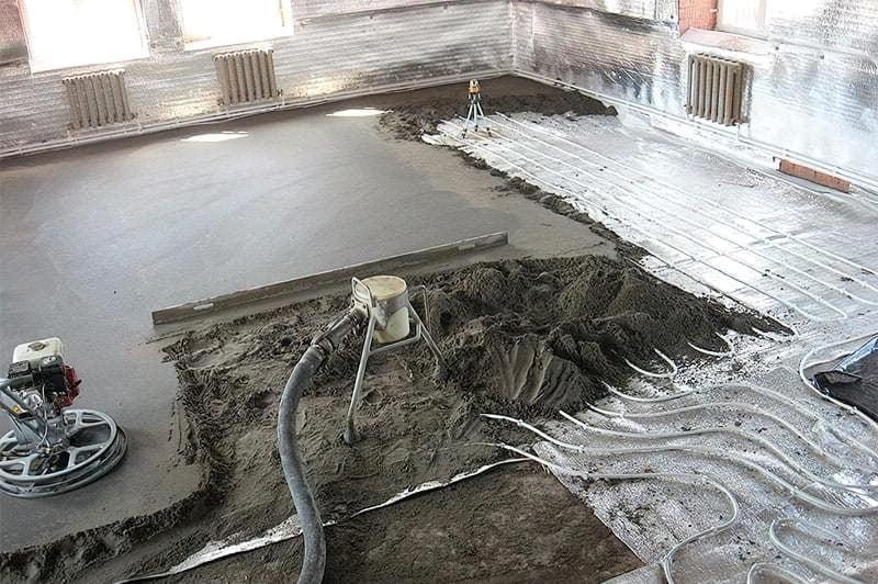 Що таке напівсуха стяжка підлоги, її плюси і мінуси 7