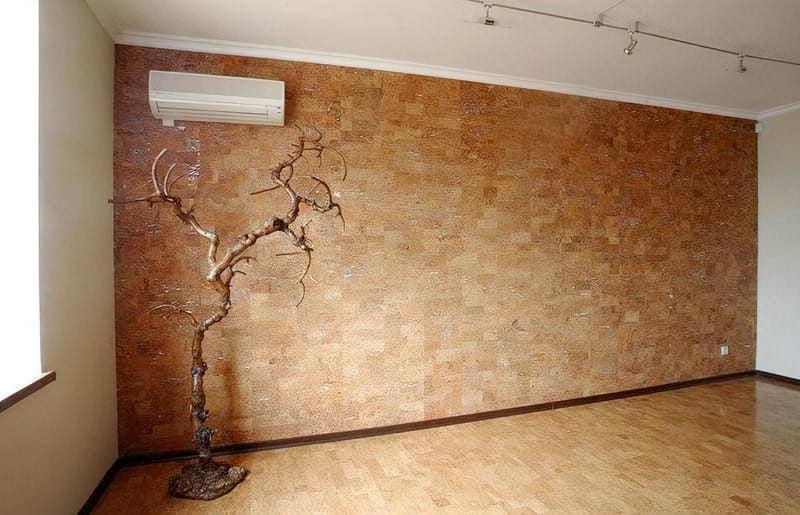 Обробка дерев'яними шпалерами фото