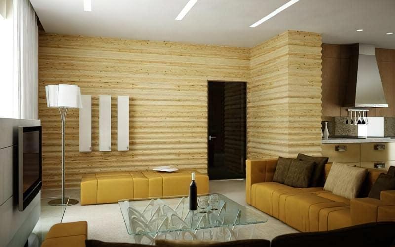 Дерев'яні шпалери для внутрішньої обробки фото