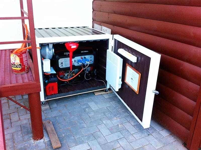 Саморобний контейнер для генератора