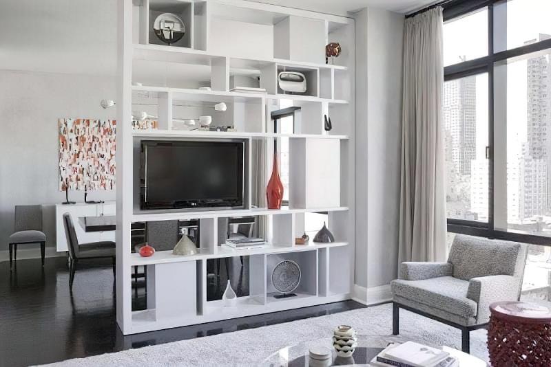 Якими бувають перегородки для зонування простору кімнат? 3