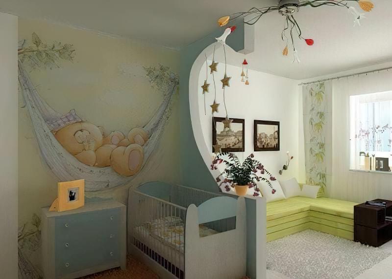 Якими бувають перегородки для зонування простору кімнат? 4