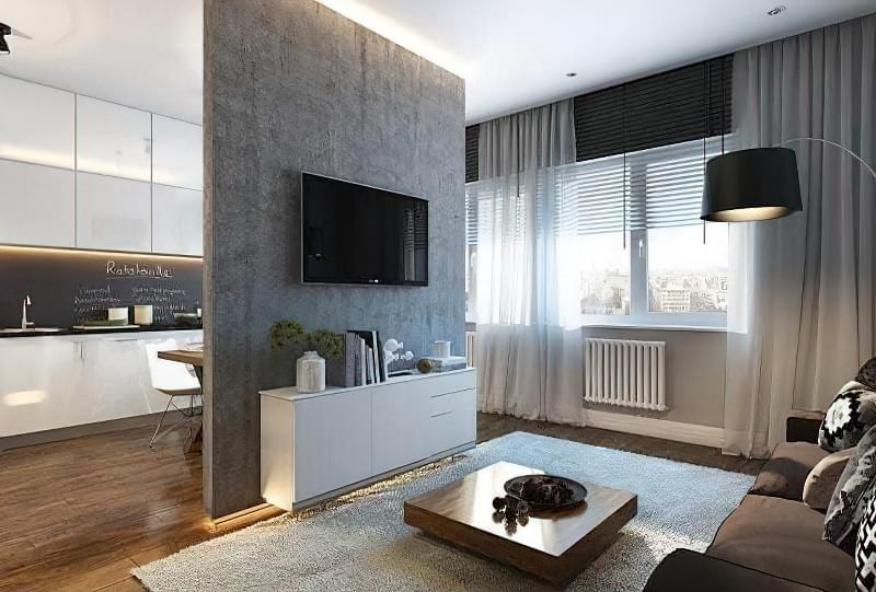 Якими бувають перегородки для зонування простору кімнат? 10