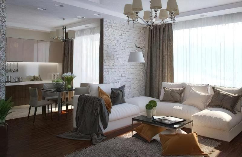 Якими бувають перегородки для зонування простору кімнат? 1