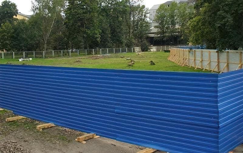 З чого зробити тимчасовий паркан-огорожу на період будівництва? 11