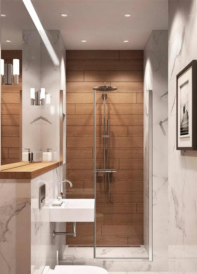 Вузька ванна кімната