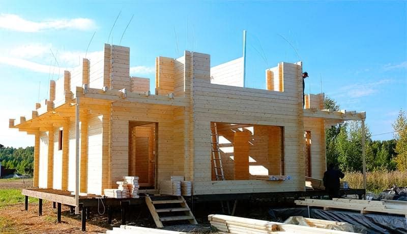 Огляд технології будівництва будинку з подвійного бруса 2