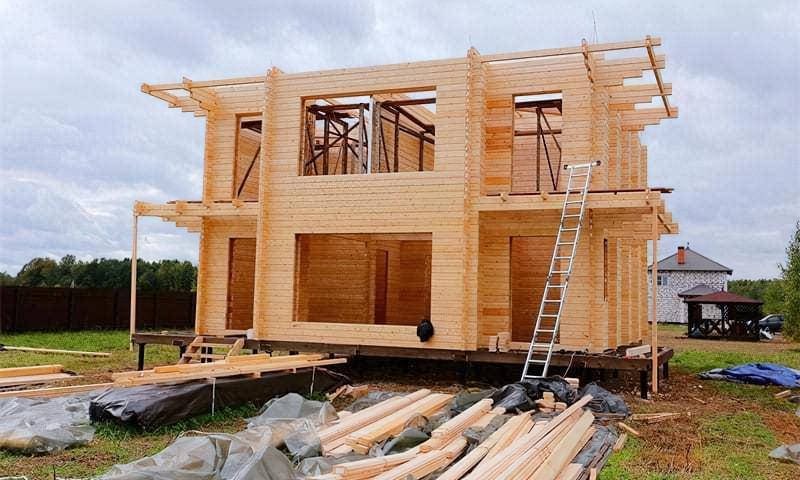 Огляд технології будівництва будинку з подвійного бруса 1