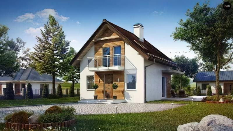 Проекти невеликих двоповерхових будинків 2