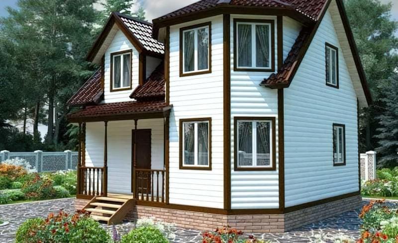 Проекти невеликих двоповерхових будинків 12