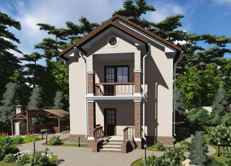 Проекти невеликих двоповерхових будинків 3