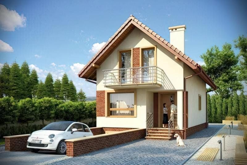Проекти невеликих двоповерхових будинків 5