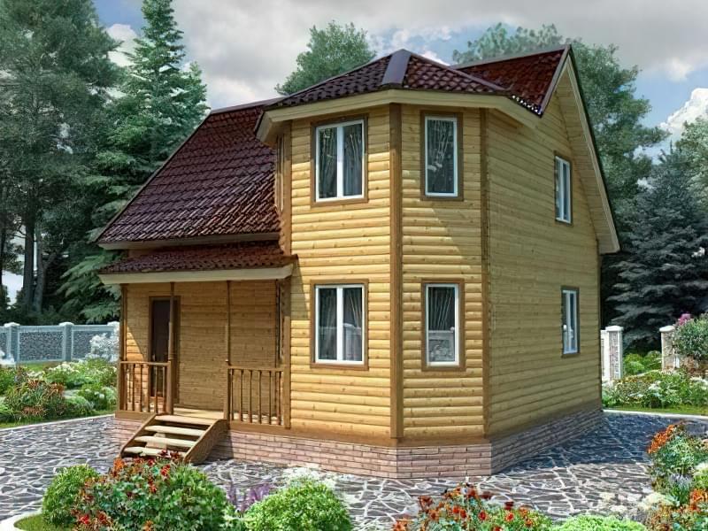 Проекти невеликих двоповерхових будинків 7