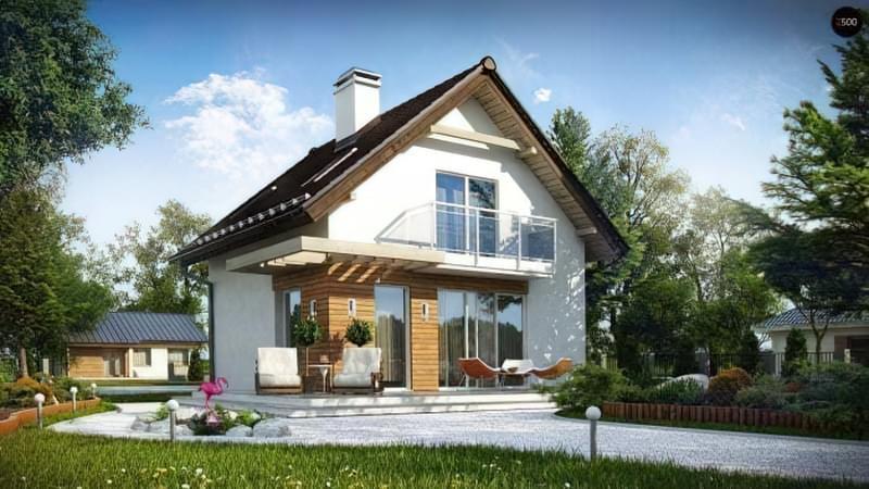 Проекти невеликих двоповерхових будинків 1