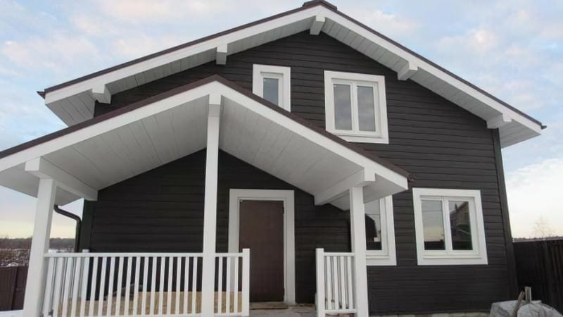 Варіанти обробки будинку з сіп-панелей 11