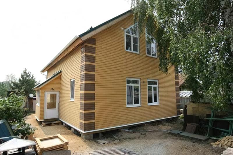 Варіанти обробки будинку з сіп-панелей 14