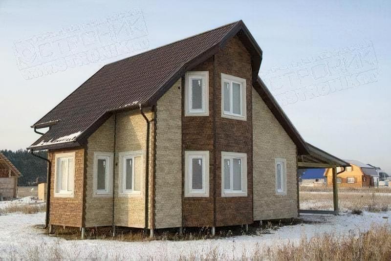 Варіанти обробки будинку з сіп-панелей 4