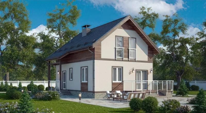 Варіанти обробки будинку з сіп-панелей 7