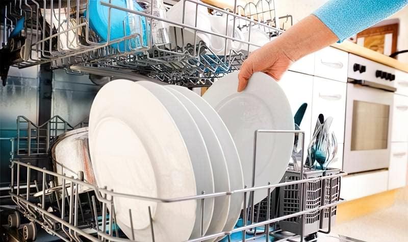 Піддони з завантаженим посудом
