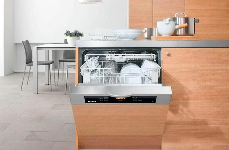 Частково вбудована посудомийна машина